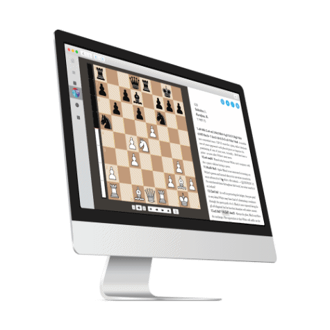 iMac with running chess insight sowfware