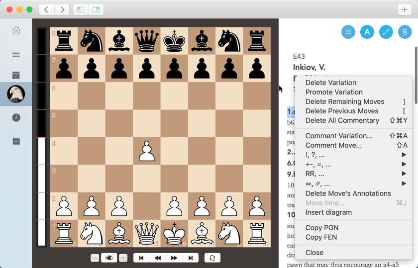 Anotate pgn chess game