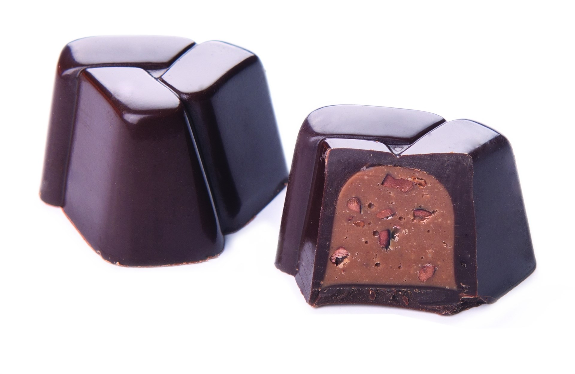 PRESTIGE DARK CHOCOLATE, HAZELNUT CREAM WITH COCOA NIBS BY GENAUVA CHOCOLATES BY GENAUVA CHOCOLATES
