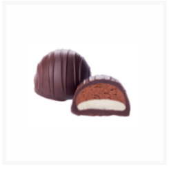 BRABO DARK CHOCOLATE, GANACHE AND MARZIPAN BY GENAUVA CHOCOLATES