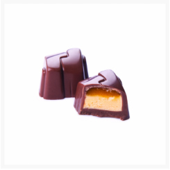 ELISABETH MILK CHOCOLATE, PASSION FRUIT AND ORANGE  BY GENAUVA CHOCOLATES