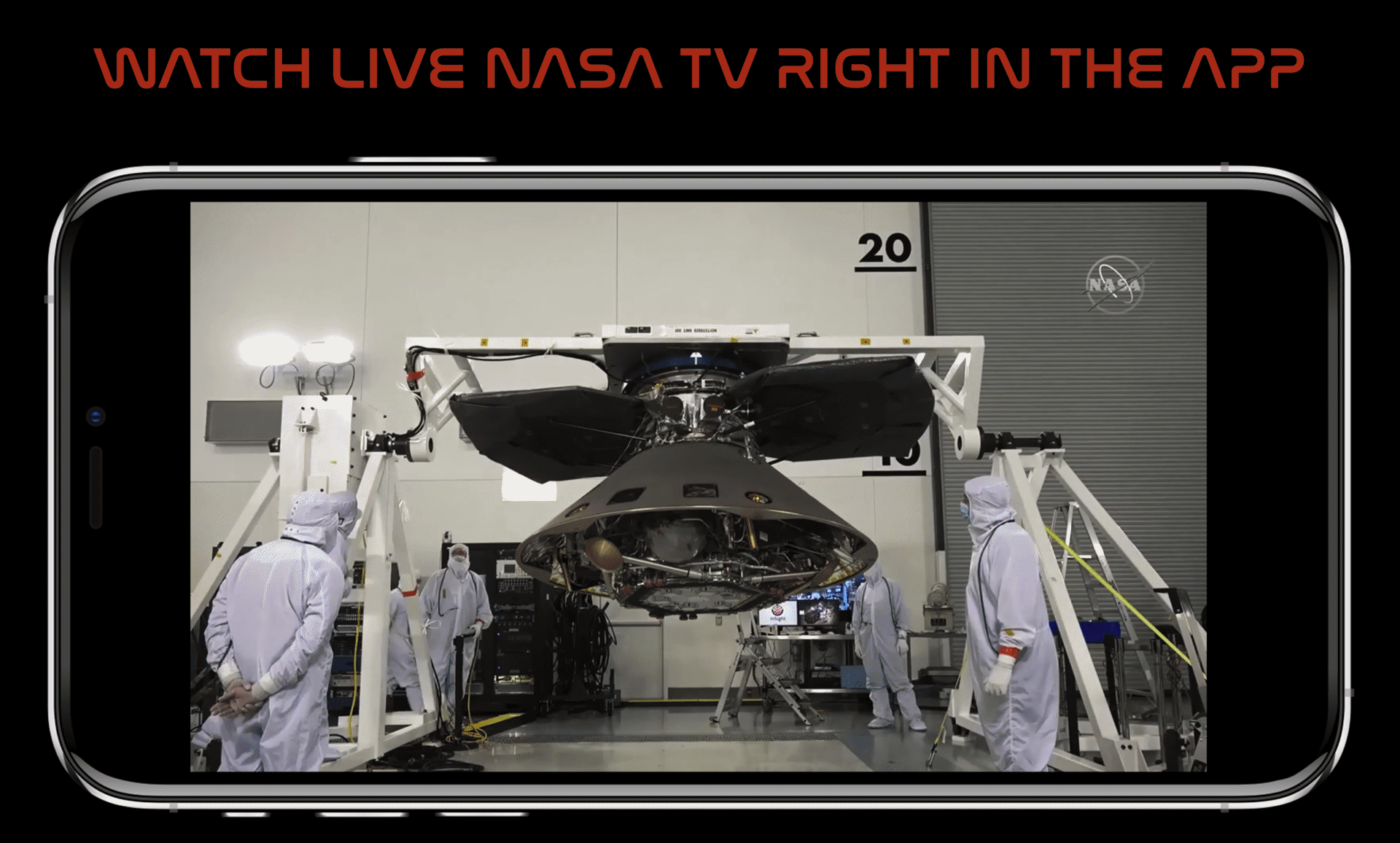Watch live NASA TV with one tap right in ISS Real-Time Tracker app for iPhone and iPad