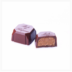 PRINCESS MILK CHOCOLATE, HAZELNUT CREAM WITH FEUILLETINE​​​​​​​ BY GENAUVA CHOCOLATES