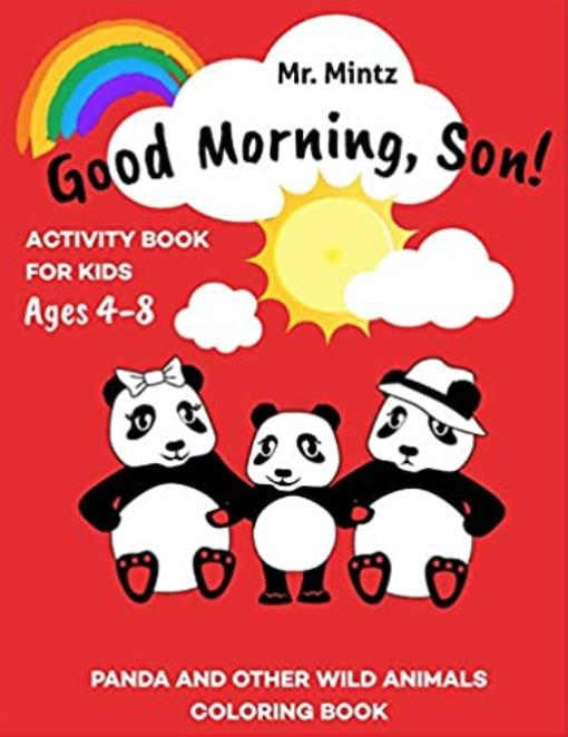 panda activity coloring book