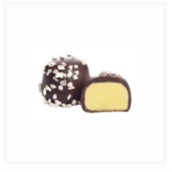 ATOMIUM DARK CHOCOLATE 77% COCOA, PISTACHIO MARZIPAN BY GENAUVA CHOCOLATES