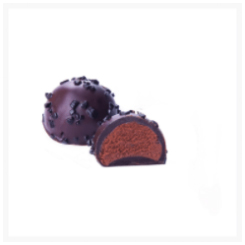 ANTWERP DARK CHOCOLATE TRUFFLE WITH ORANGE​​​​​​​ BY GENAUVA CHOCOLATES
