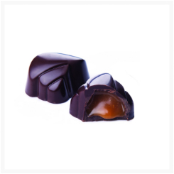 CARNIVAL DARK CHOCOLATE, CARAMEL AND SEA SALT BY GENAUVA CHOCOLATES