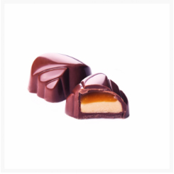 GILLES MILK CHOCOLATE, CARAMEL CREAM WITH SOFT CARAMEL AND 'FLEUR DE SEL'​​​​​​​ BY GENAUVA CHOCOLATES