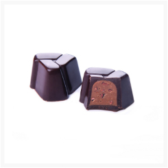 PRESTIGE DARK CHOCOLATE, HAZELNUT CREAM WITH COCOA NIBS BY GENAUVA CHOCOLATES